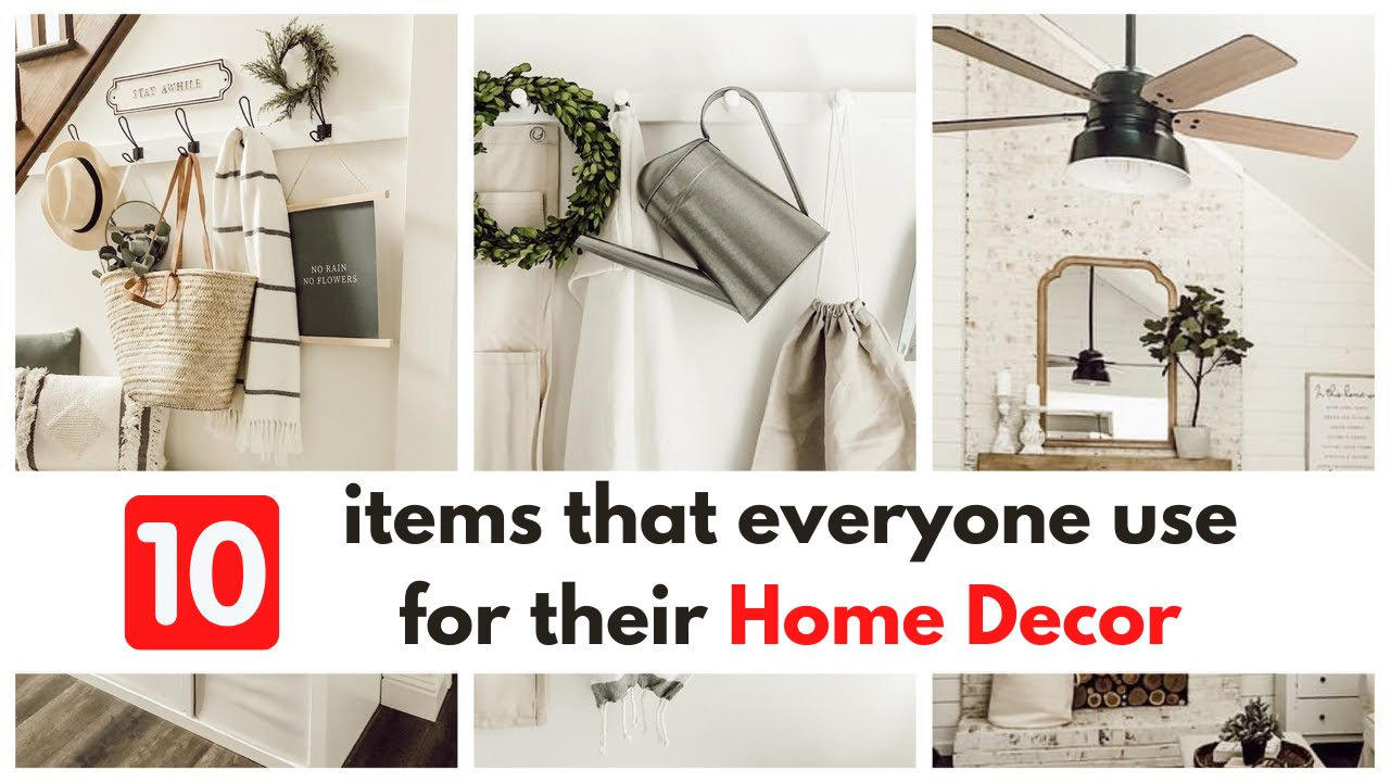 10 items that everyone should use for their Home Decor